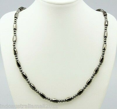 Premium Black Magnetic Hematite Necklace Relieve Arthritic Pain(NJEW-Q009)