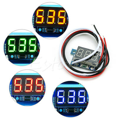 Mini LED 0-999mA DC 4-30V Digital Panel Ammeter Amp Ampere Meter with Wire New