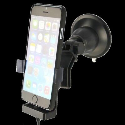 FIX2CAR® Active Holder w/suction cup iPhone 6/6s 12/24V/2.1A USB - 60265