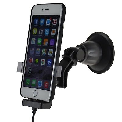 FIX2CAR® Active Holder suction cup iPhone 6/6s PLUS w cover 2.1A USB - 60275