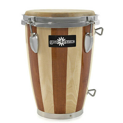 """New 7.5"""" Wooden Conga with Strap by Gear4music"""