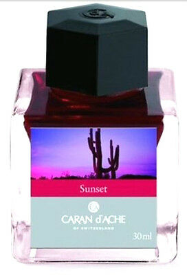 Caran D'ache Bottle Ink Rare Earth Colour Sunset 30ml Drawing Writing Ink Swiss