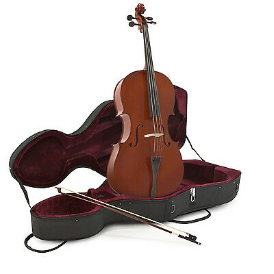 New Student 3/4 Size Cello with Case by Gear4music