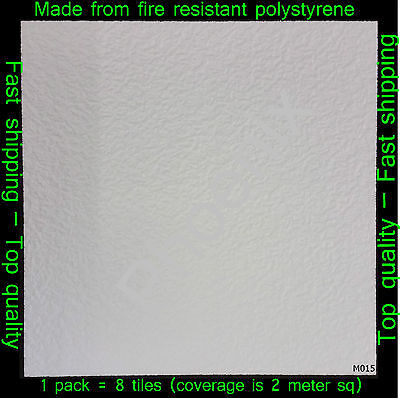 Polystyrene Ceiling Tile / Wall Panels DIY Decorating Safety Approved 2M² M015