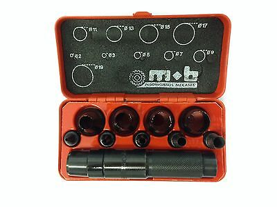 PUNCH TOOL SET FOR WASHERS DISCS WADS 10 PIECE 2MM to 19MM ODD