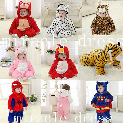 Baby Toddlers' thick Outerwear Unisex Cosplay Animal Onesie Costume romper 4-30M