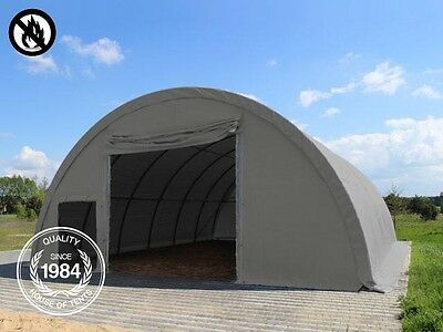 Arched Hangar Shelter 9.15m x 12m 4.5m High Storage Tent Dome Silo Building grey