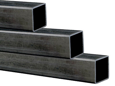Hollow Square Mild Steel Box Section Tube - select Length 25mm x 25mm x 2mm Wall
