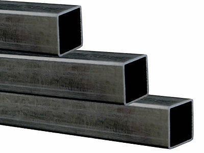 Hollow Square Mild Steel Box Section Tube select Length 40mm x 40mm x 3mm Wall