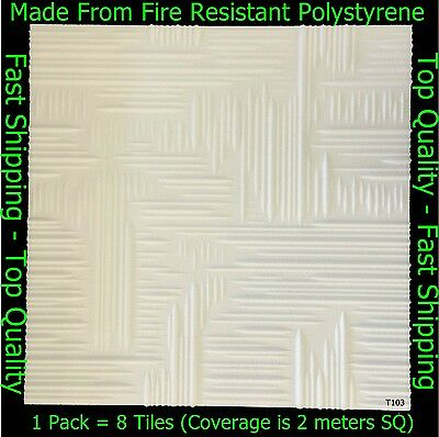 Polystyrene Ceiling Tile / Wall Panels DIY Decorating Safety Approved 2M² T103