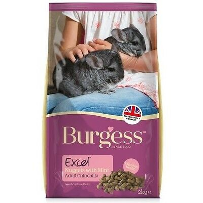 BURGESS EXCEL CHINCHILLA COMPLETE FOOD 2KG tasty nugget feed