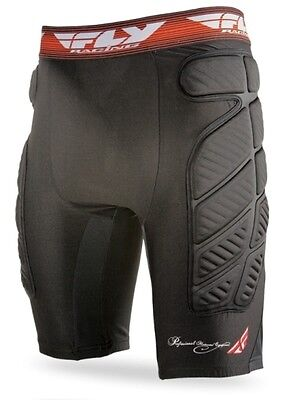 FLY Racing Mens MX ATV Offroad Motocross Compression Under Shorts Black