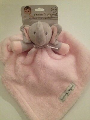 Blankets And & Beyond Baby Girl Security Lovey Pink Grey Elephant Nunu Layette
