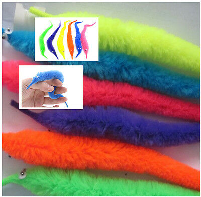 22cm 2*Magic Twisty Fuzzy Worm Wiggle Moving Sea Horse Kid Trick Toy Caterpillar