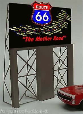 MILLER ENGINEERING O/O27 Route 66 The Mother Road Animated Neon Sign  #5061