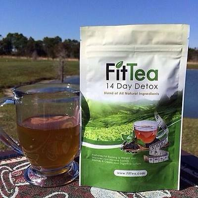 FIT TEA 14 Day Tea,All Natural Detox,FAT BURNING, NON GMO, Sealed, Fast Shipping