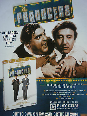 """the PRODUCERS # MEL BROOKS # DVD RELEASE ADVERT # 12"""" x 9"""""""