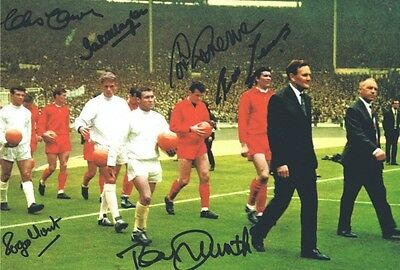 Signed Liverpool 1965 FA Cup Final Autograph Photo Yeats Hunt Smith Callaghan