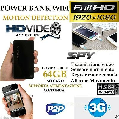 Spy Camera Spia WIFI HD MOTION 64gb TELECAMERA MICRO NASCOSTA MICROCAMERA