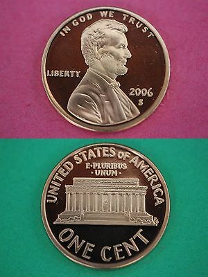 2006 S Proof Lincoln Memorial Cent Deep Cameo Combined Shipping