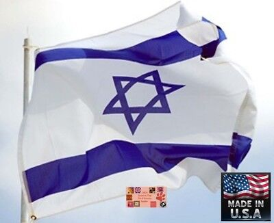 3x5 foot ISRAEL JEWISH Star Of David Super-Poly  In/outdoor FLAG Flags *USA MADE