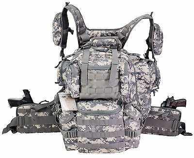 Ultimate Deluxe Tactical Assault 3-Day 72 Hours Survival Pack Backpack ACU COLOR