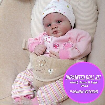 "Violet by Marissa May ~ Reborn Doll Kit ~ 19""   unpainted  vinyl w/ FREE GIFT"