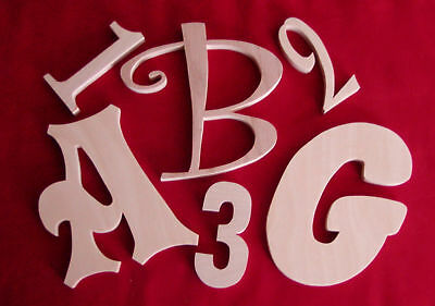 "8 "" Unfinished Wood Letters-Wall Letters or Numbers"