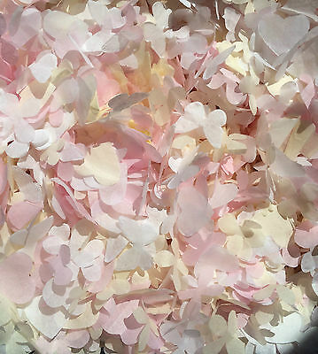 Peach Pink Ivory biodegradable confetti Butterfly Heart Flower 1L Fill 9 Cones