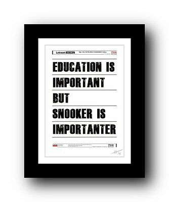 SNOOKER ❤ poster art print signed limited edition print - cool gift present
