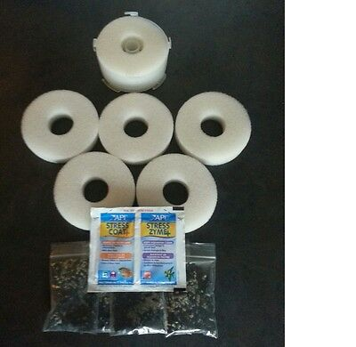5 x COMPATIBLE BiORB FLOW FILTER SERVICE KIT BIO ORB REPLACEMENT COAT ZYME FLO