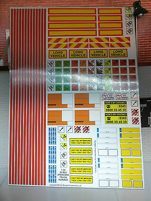 G LGB 1:24 Scale Modern Truck Lorry Trailer Model Kit Decal Stickers Code 3