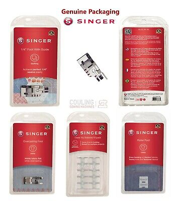 Sewing Machine Parts, Feet, Foot Bobbins, Case Fits New Type Singers Only