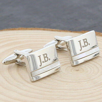 Personalised Engraved Mother of Pearl Cufflinks For Men Birthday Wedding Gift