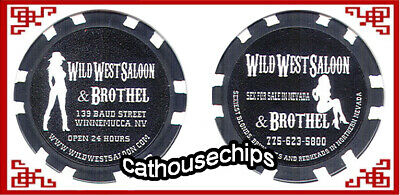 WILD WEST SALOON, Winnemucca, Nevada  Brothel Collectors Chip