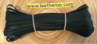 "SALE Kangaroo Lace DARK GREEN Kangaroo Leather Lacing 4.7mm 3/16"" Width 10meters"