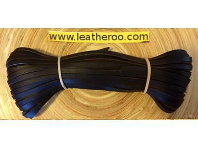"Kangaroo Lace Chocolate Kangaroo Leather Lacing 4.7mm (3/16"") Width 10 m hank"