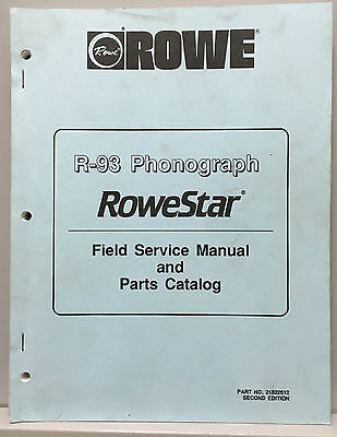 Jukebox Manual - Rowe R-93 Service Manual & Parts Catalog - Not For Pinball