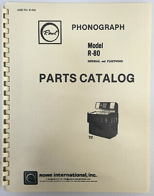 JUKEBOX MANUAL - ROWE R-80 PARTS CATALOG - AMR No. R-466