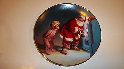 "Franklin Mint Coca Cola Collectors Plate 1995 ""Caught in the Act"" HA 7425"