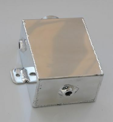 Universal Polished All Aluminum Radiator Coolant Overflow Recovery Bottle Tank
