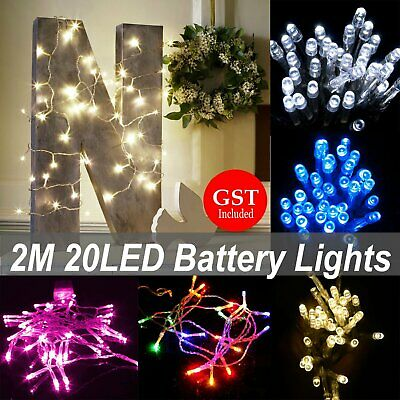 2M 20LED Battery Operated String Fairy Light Party Wedding Christmas Decoration