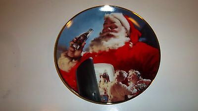 "Franklin Mint Coca Cola Collectors Plate 1994 ""Stocking Up For Santa"" HB8522"
