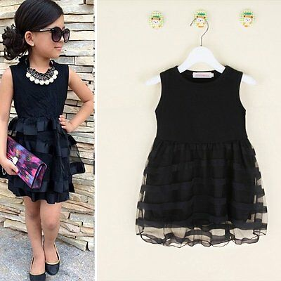 Girls Kids Toddler Baby Princess Party Pageant Wedding Summer Tulle Tutu Dresses