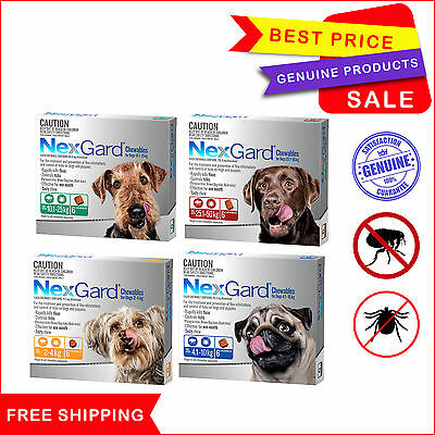 NEXGARD Flea and Tick Treatment for Dogs 6 Chews All sizes by Merial NEXGUARD