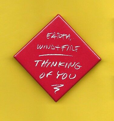Earth Wind & Fire 1987 badge button pinback R Thinking of You