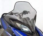 "New 2008-2014 Yamaha Rs Vector Extra Tall 17-3/4"" Windshield Sma-8Ft96-40-Bk"