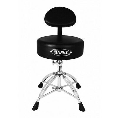 Mapex Round Top Drum Throne with Back Rest and with 4 Legs Double Braced - T770