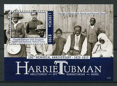 Liberia 2013 MNH Harriet Tubman Abolitionist Spy 100th Memorial 1v S/S II Stamps