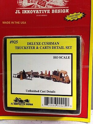 HO 1/87 JL Innovative Design # 925 Deluxe Cushman Truckster w/carts Kit
